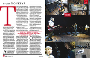 Double page spread magazine